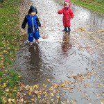 The magic of walk in the rain