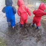 The fun in a puddle